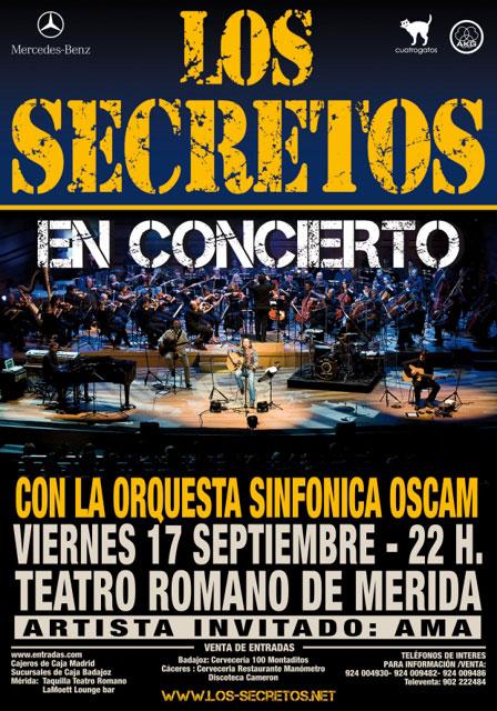 Concierto de los secretos en Mérida