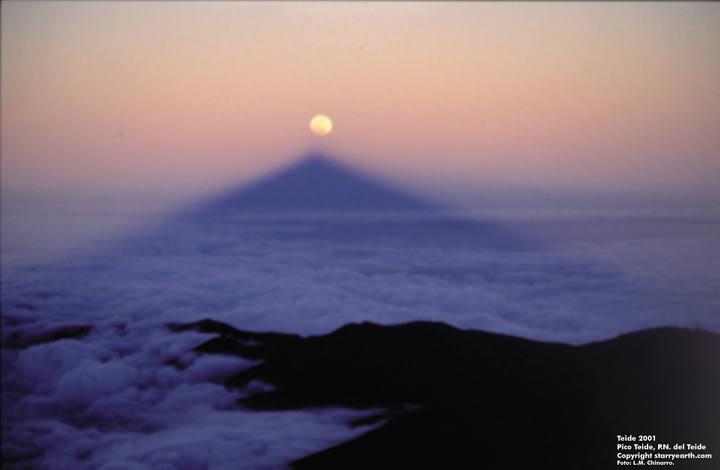 Eclipse lunar 15 junio, fotografía desde el Teide