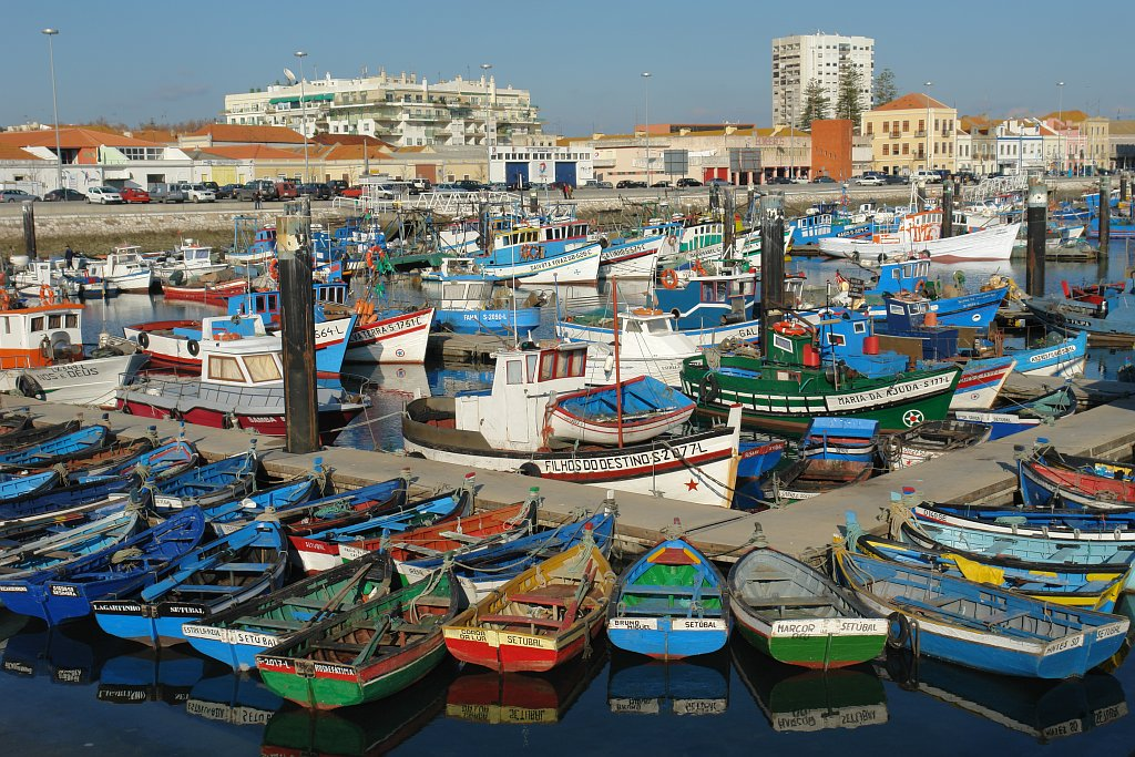 Fishing harbour in Setúbal (Setubal), Portugal