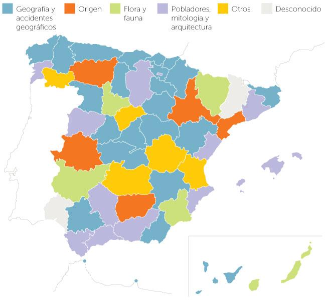 Mapa de España según Geografía