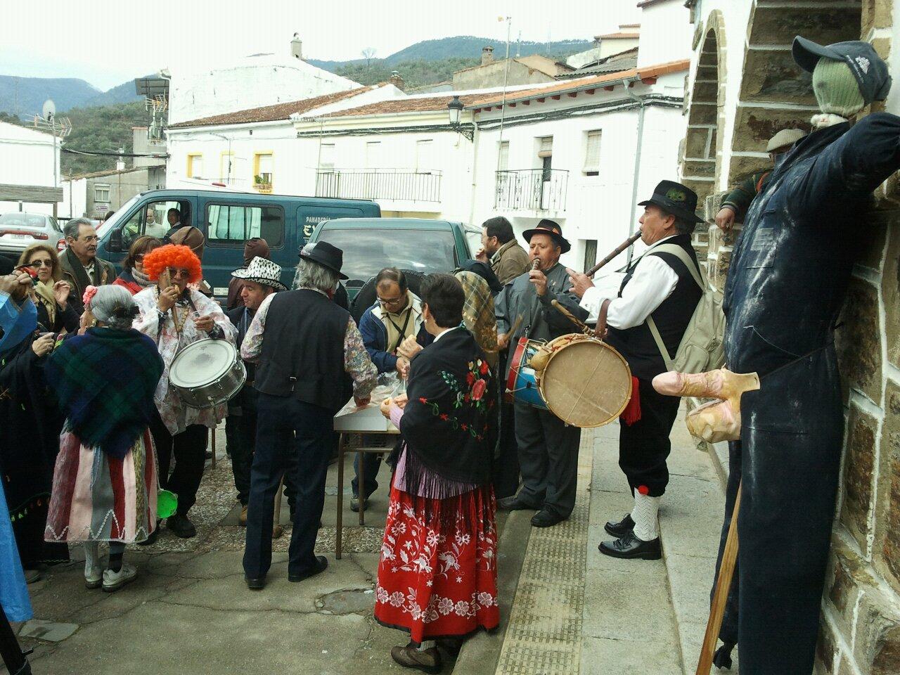 El falo (o tranca) del Morcillu, carnaval Jurdano