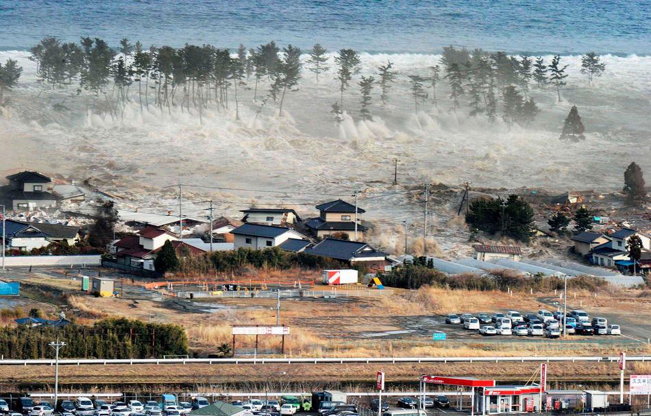 Viviendas arrasadas por el efecto del terremoto en Japón