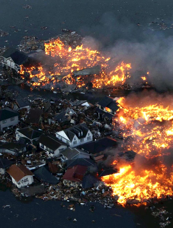 Incendio en el terremoto de Japón