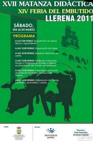 cartel de la matanza didáctica en Llerena