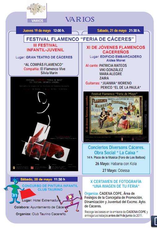 festival flamenco en la Feria de San Fernando