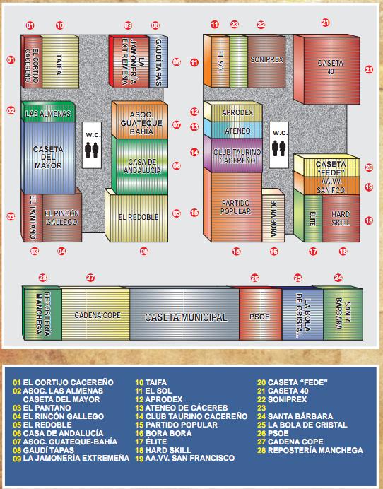 Plano de la Feria de Cáceres, Feria de San Fernando 2011