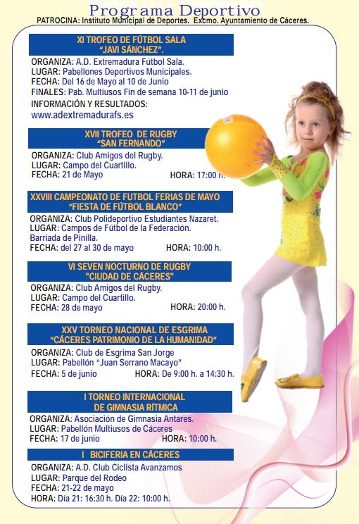Programa deportivo Feria de Cáceres, deportes en la feria de San Fernando