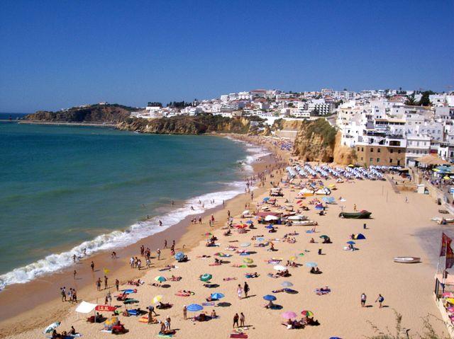 Playa Albufeira, el Algarve
