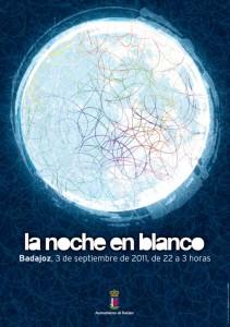 Cartel Noche en Blanco 2011 Badajoz, segunda edición
